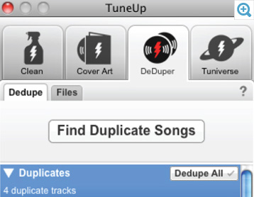 TuneUp – Review duplicates